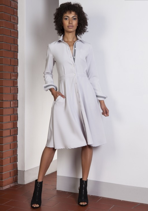 Flared dress, SUK151 gray