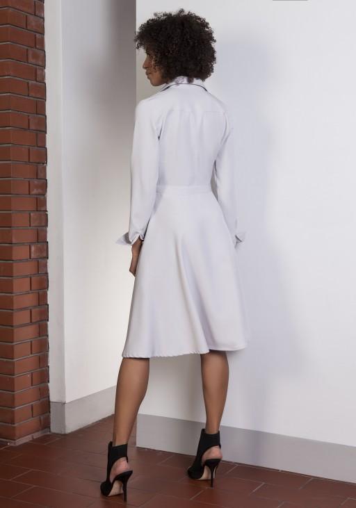 Rozkloszowana sukienka, SUK151 szary