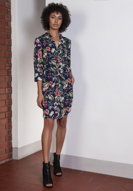 Sukienka ze szczypankami, SUK149 kwiaty