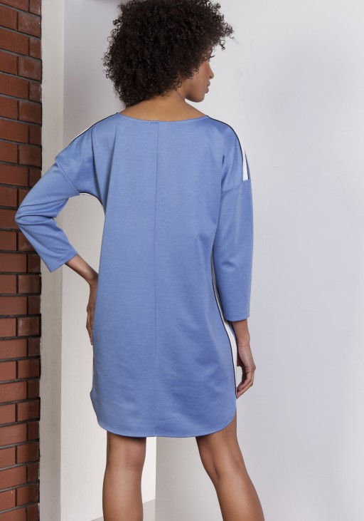 Sporty dress with stripes, SUK150 blue