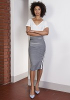 Pencil midi skirt with stripes, SP117 stripes