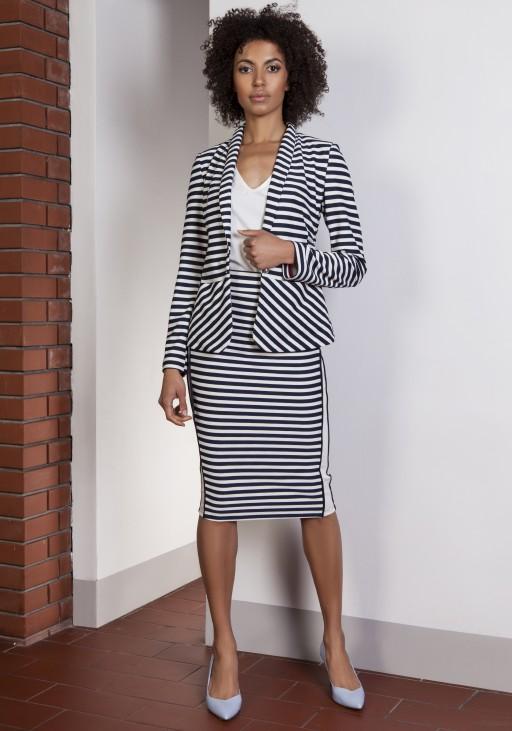The stylish jacket, ZA113 stripes