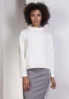 Bluza z dłuższym tyłem, BLU139 ecru