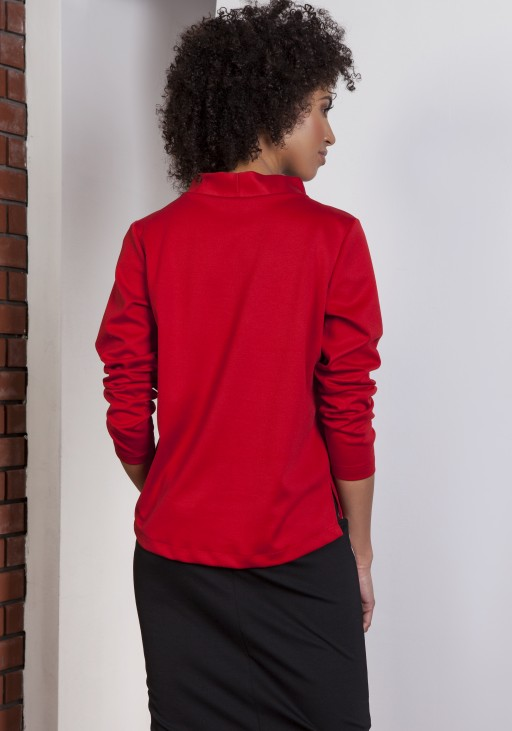 Sweatshirt with longer back, BLU139 red