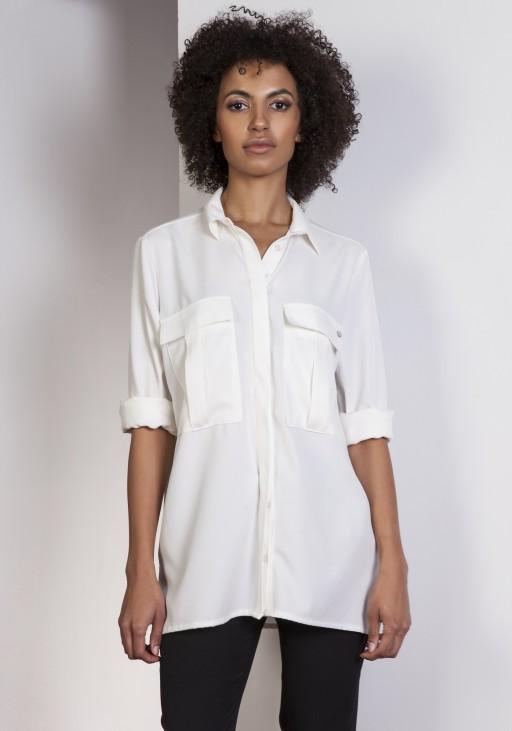 Koszula oversize, K108 ecru