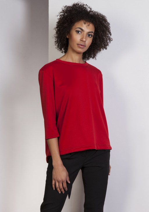 Loose blouse - tailcoat, BLU140 red