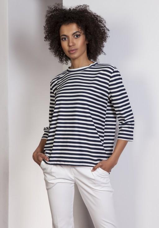Loose blouse - tailcoat, BLU140 stripes