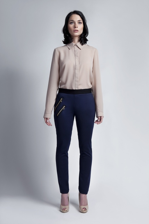 Eleganckie spodnie, SD107 granat