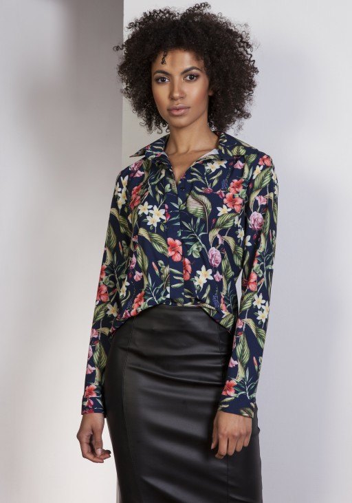 Elegant shirt, K101 flowers