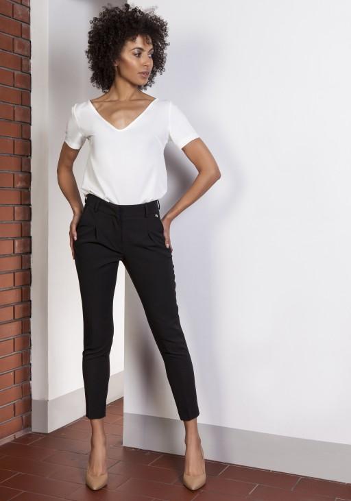 Spodnie z wysokim stanem, SD115 czarny