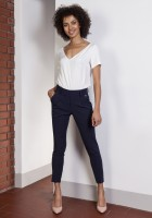 Trousers with high-waisted, SD115 navy