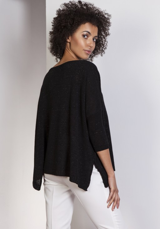 Sweter oversize, SWE114 czarny