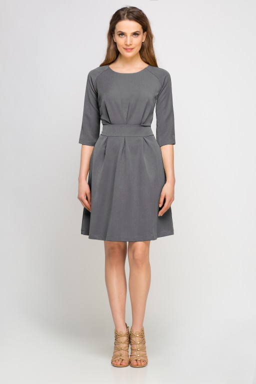 Dress with a flared bottom, SUK122 graphite