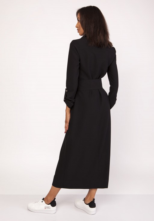 A maxi military-style dress , SUK157 black