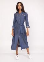A maxi military-style dress , SUK158 jeans