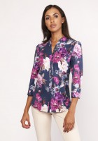 Shirt with a loose cut, K111 flowers
