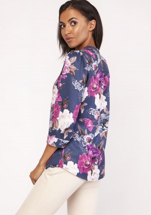 Koszula o luźnym kroju, K111 kwiaty