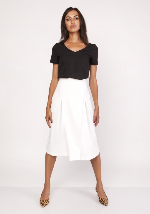 Flared skirt, SP118 ecru