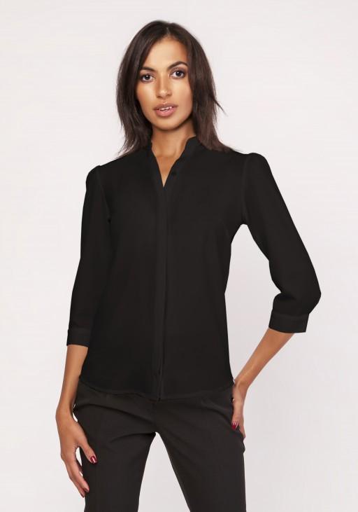Koszula o luźnym kroju, K110 czarny