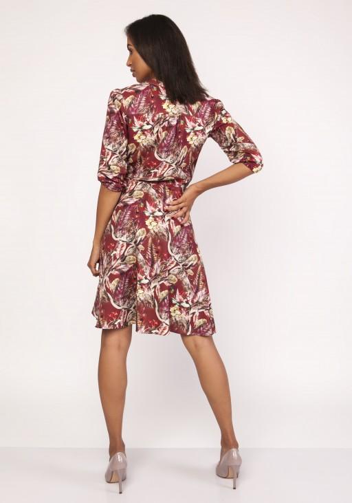 Sukienka o rozkloszowanym dole, SUK155 wzór