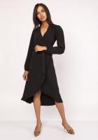 Asymmetrical, envelope dress, SUK160 black