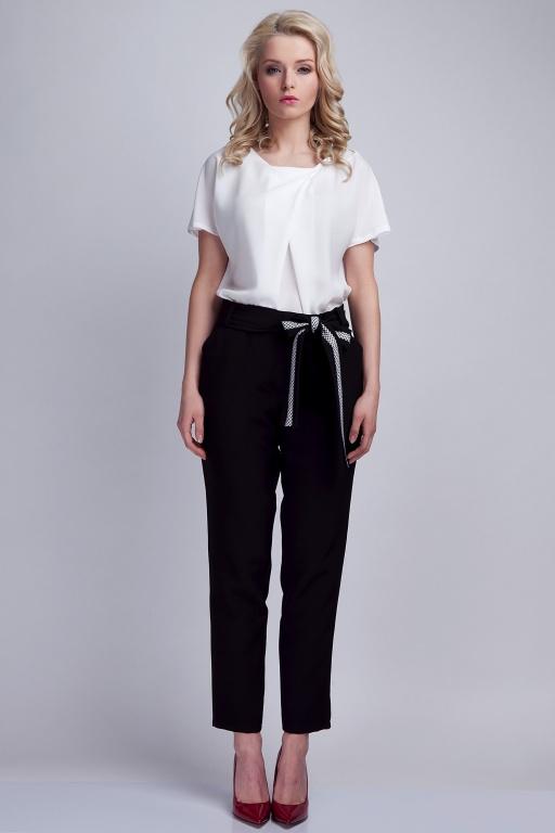 Spodnie z szarfą, SD109 czarny