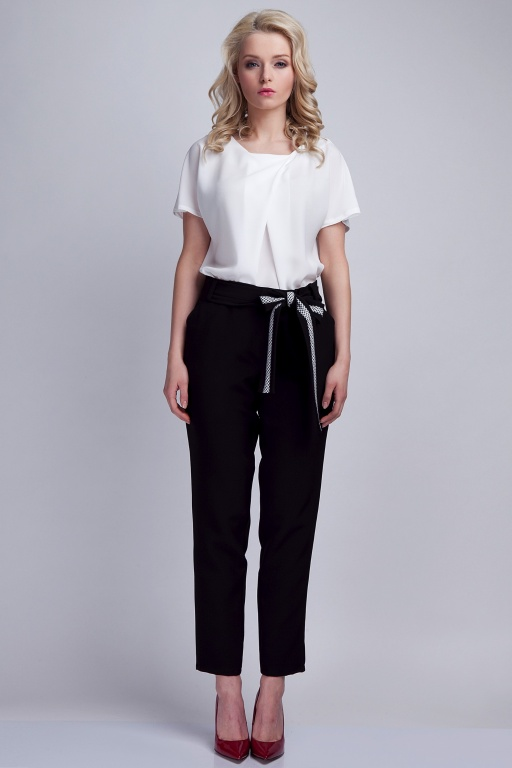 Trousers with sash, SD109 black