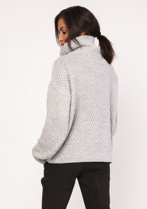 A warm, oversized, sweater, SWE115 gray