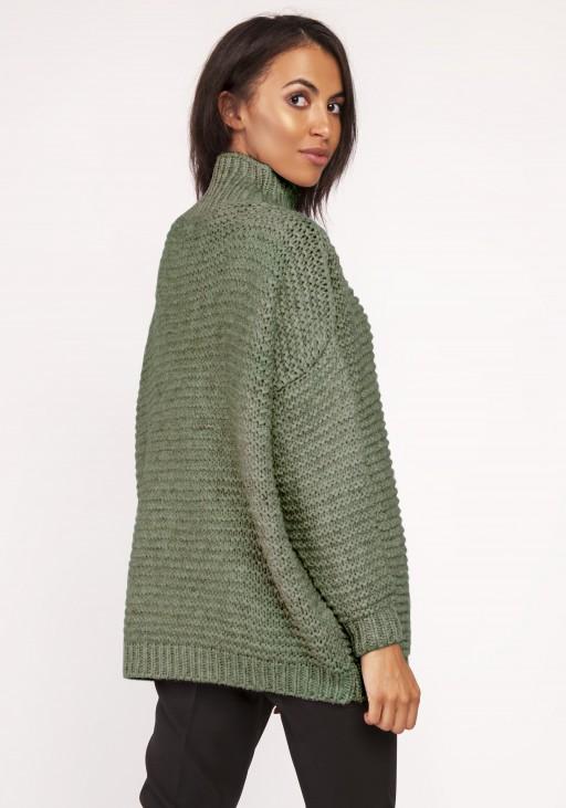 Sweterek - golf, SWE116 zielony