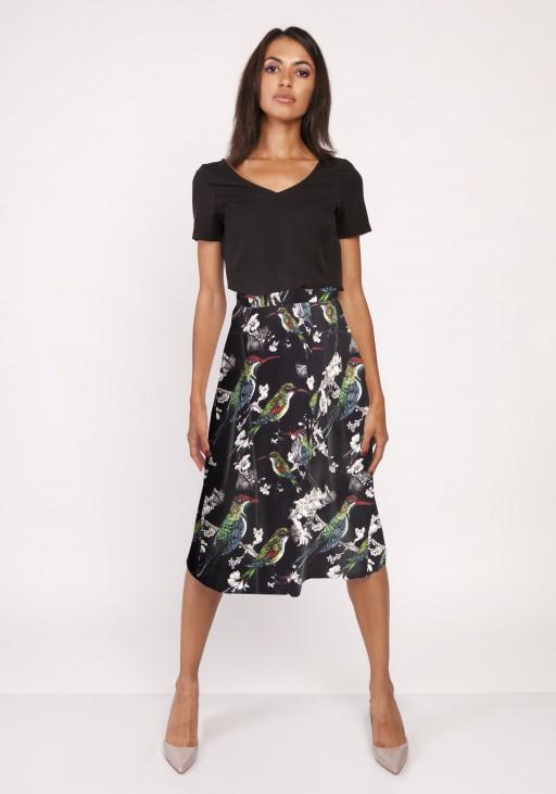 Flared skirt, SP119 birds