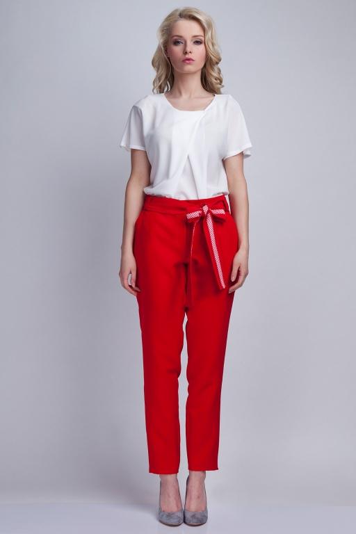 Spodnie z szarfą, SD109 czerwony