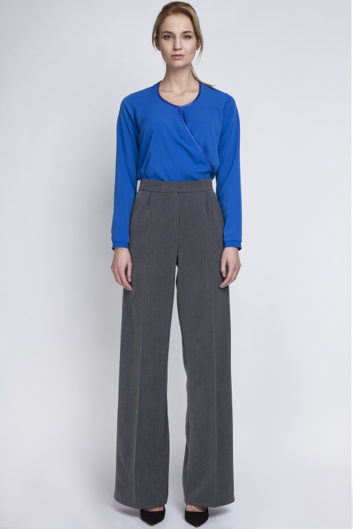 Classic trousers with high-waisted, SD111 graphite
