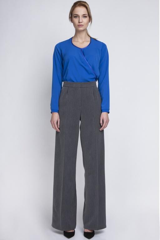 Klasyczne spodnie z wysokim stanem, SD111 grafit