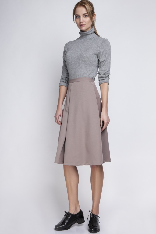 Midi skirt, SP110 beige