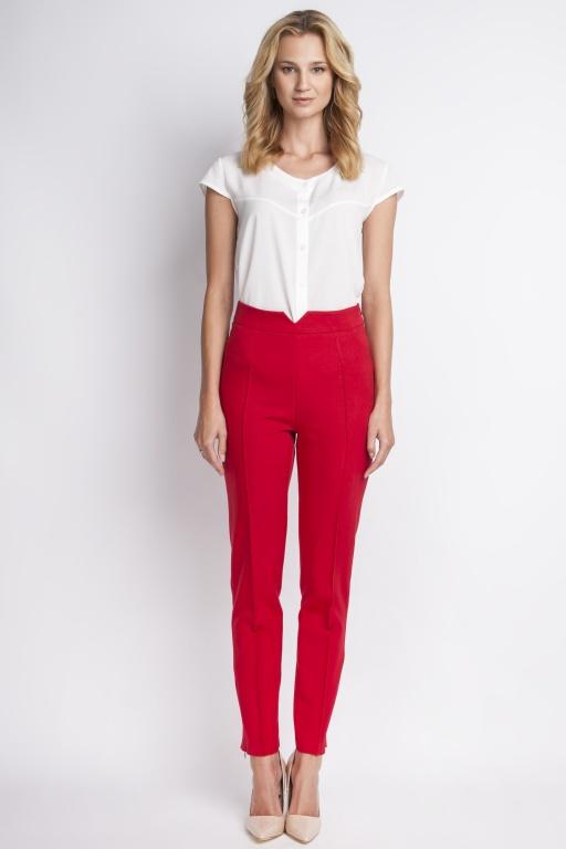 Spodnie z wysokim stanem, SD112 czerwony