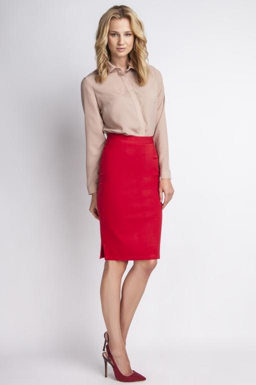Klasyczna spódnica, SP112 czerwony