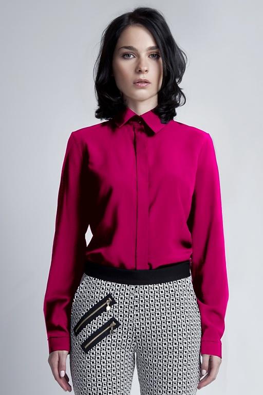 Elegancka koszula, K101 fuksja