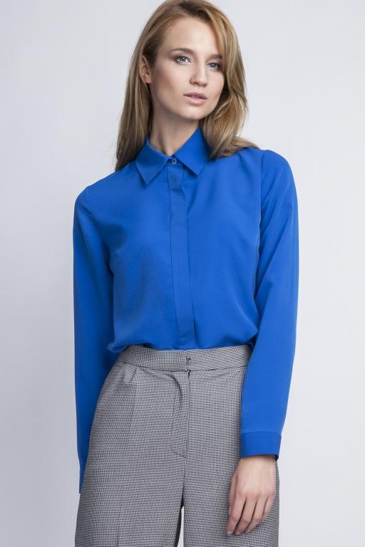 Elegancka koszula, K101 indygo