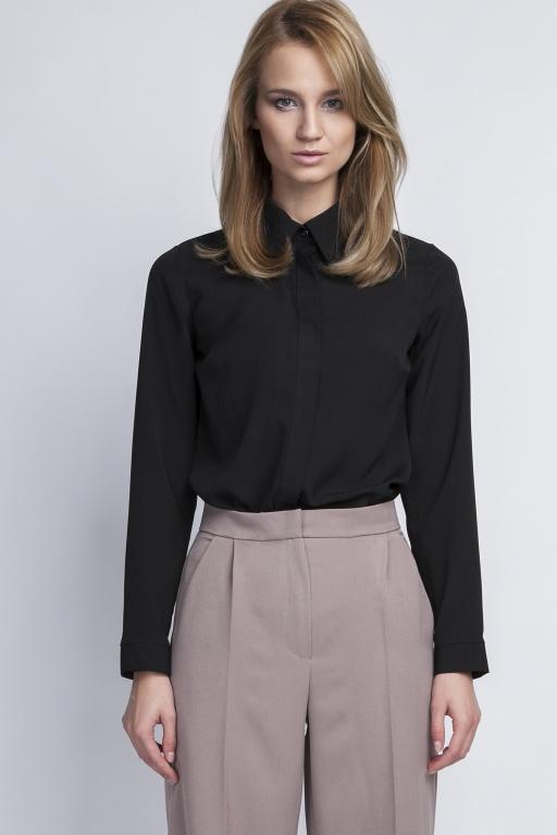 Elegancka koszula, K101 czarny