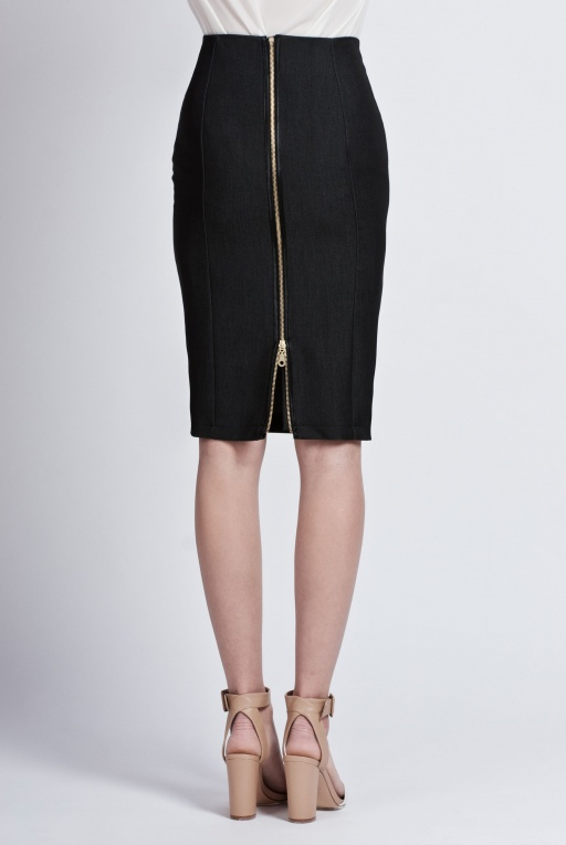 Pencil skirt with black jeans, SP102 jeans