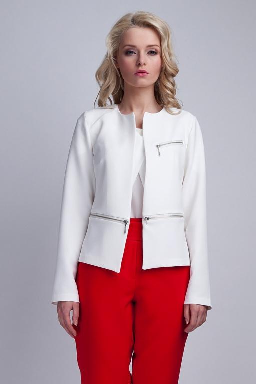 Short jacket, ZA107 ecru