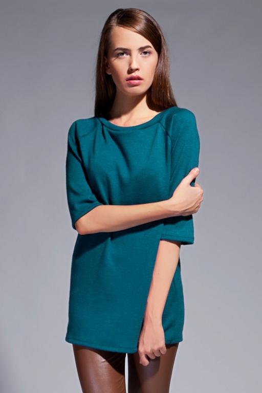Prosta bluzka, BLU013 zielony