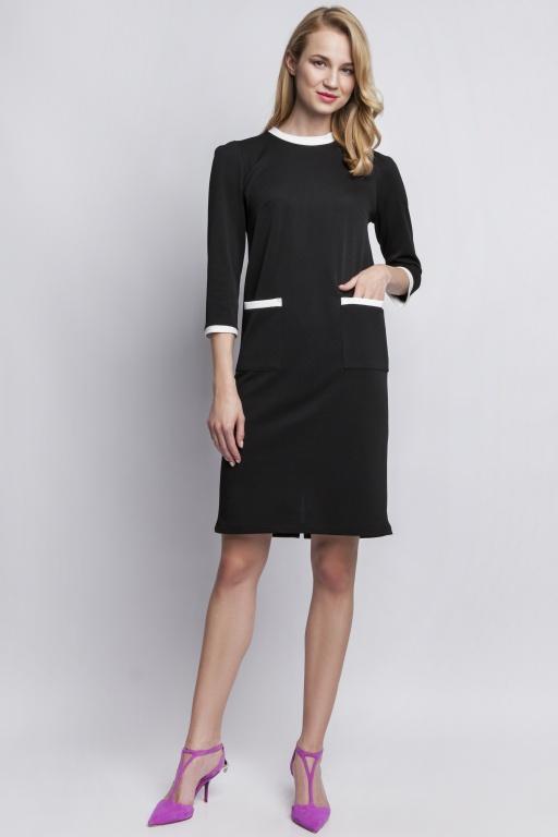 Sukienka z kieszeniami, SUK103 czarny