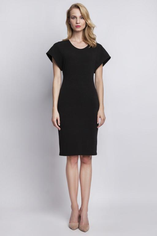 Sukienka dopasowana, SUK101 czarny