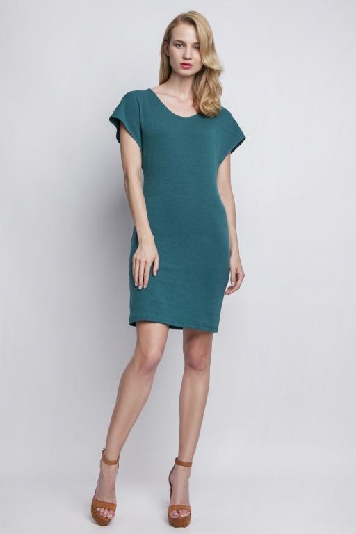 Sukienka dopasowana, SUK101 zielony