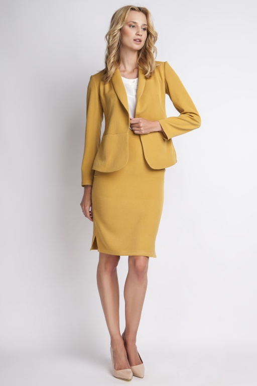 The stylish jacket, ZA113 mustard