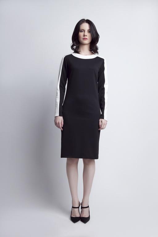 Sukienka z ciekawymi wstawkami, SUK115 czarny