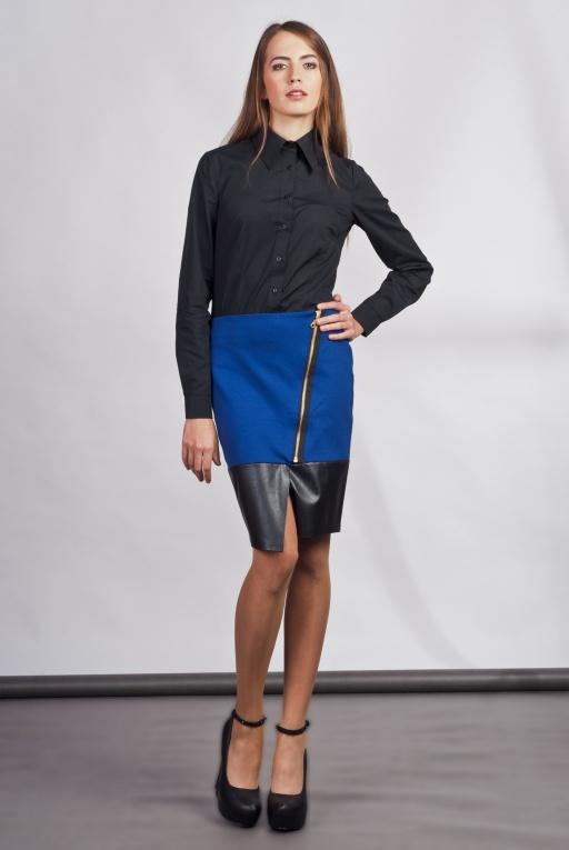 Asymetryczna spódnica, SP103 indygo