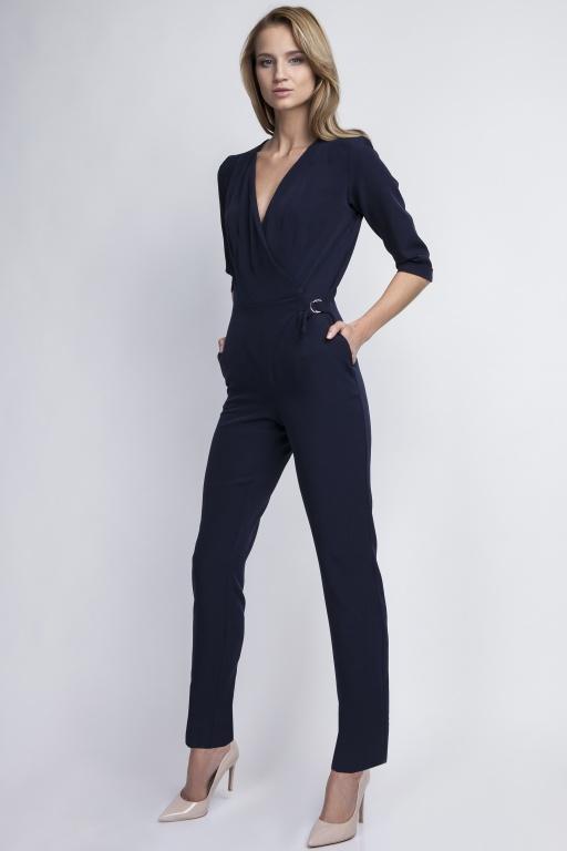 Elegant jumpsuit, KB108 navy