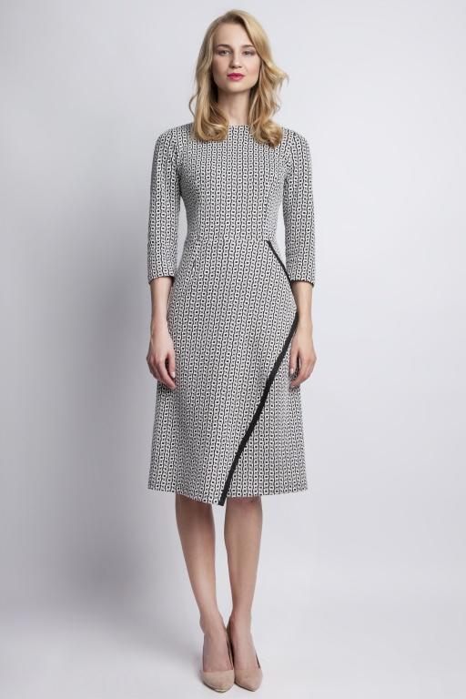 Rozkloszowana sukienka, SUK116 kostka